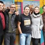 Andoni Agirregomezkorta, Adrià Collado, Robert Bellsolà, Carolina Bang, y Marcel Tomàs en la presentación de Dos a la carta