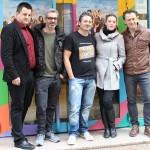 Andoni Agirregomezkorta, Adrià Collado, Robert Bellsolà, Carolina Bang, y Marcel Tomàs en la presentación de Dos a la carta (2)