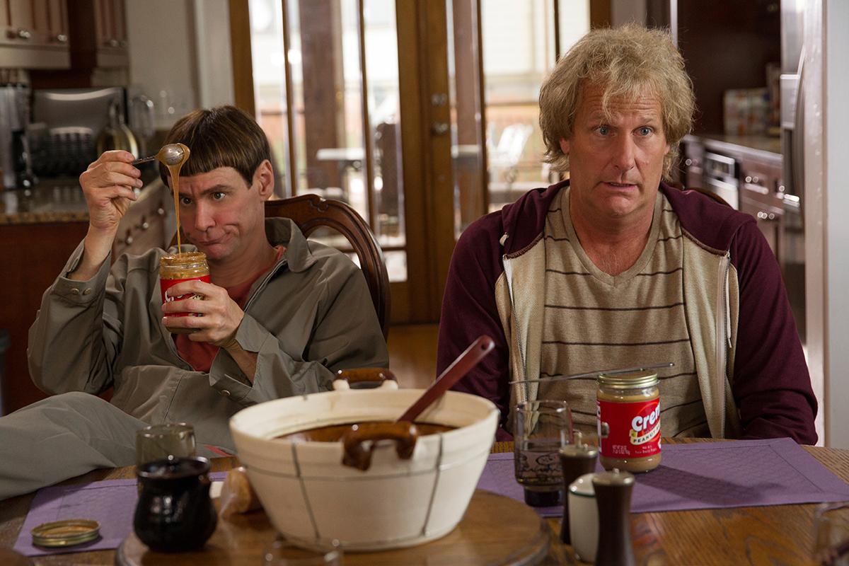 Jim Carrey y Jeff Daniels en Dos tontos todavía más tontos