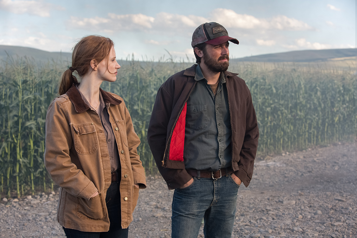 Jessica Chastain y Casey Affleck en Interstellar