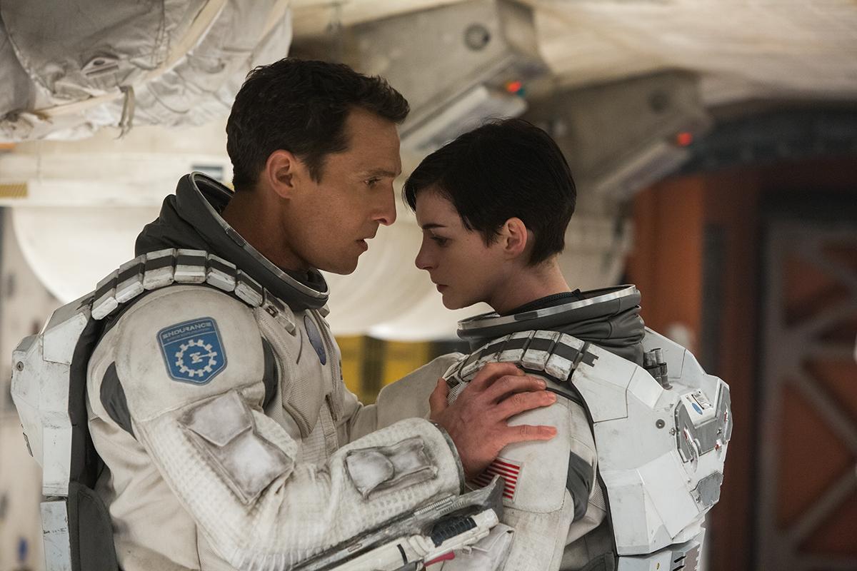 Matthew McConaughey y Anne Hathaway en Interstellar