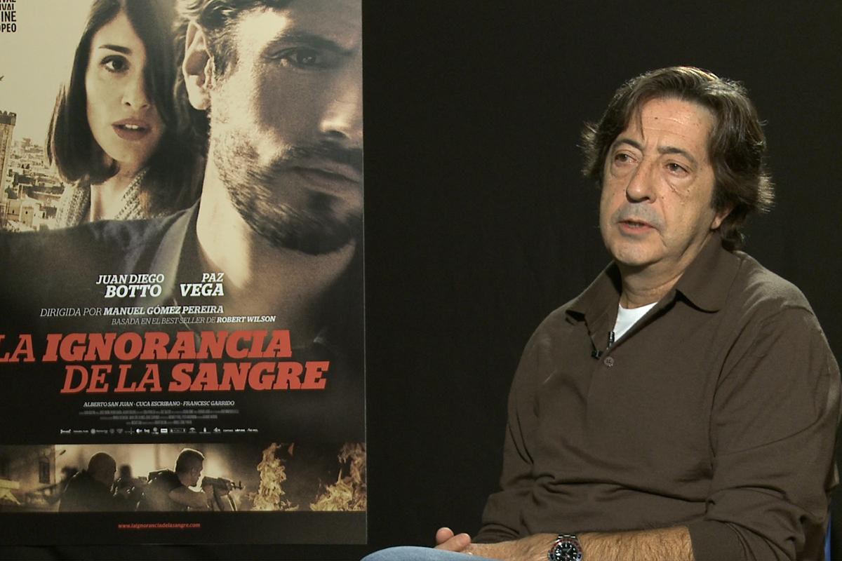 Manuel Gómez Pereira en la presentación de La ignorancia de la sangre