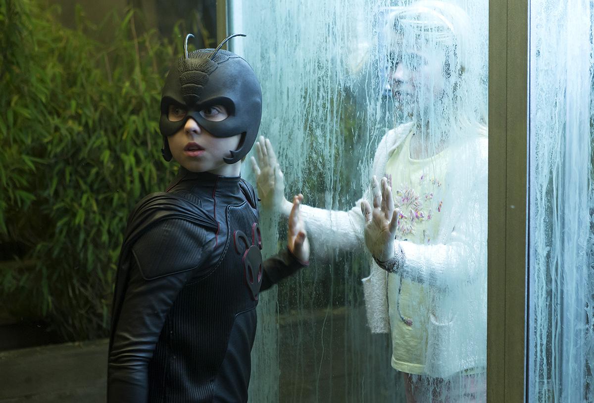 Oscar Dietz y Cecilie Alstrup Tarp en Antboy. El pequeño gran superhéroe