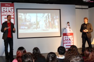 Chris Williams y Don Hall en la masterclass de Big Hero 6