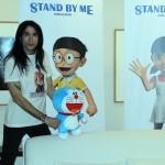 Mario Vaquerizo y Alaska en la presentación de Stand by Me Doraemon