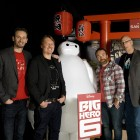 Chris Williams, Don Hall, Valentín Amador y Roy Conli en la presentación de Big Hero 6 (3)