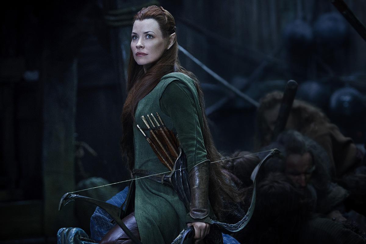Evangeline Lilly en El Hobbit: La batalla de los cinco ejércitos