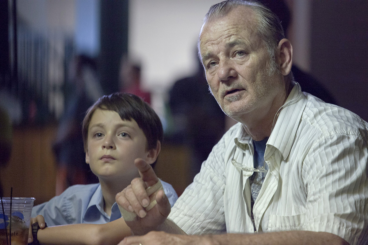 Jaeden Lieberher y Bill Murray en St. Vincent