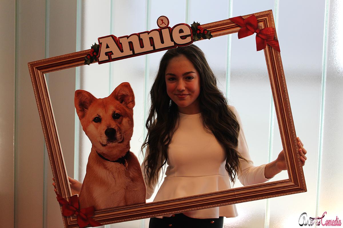 María Parrado en la presentación de Annie (2014)