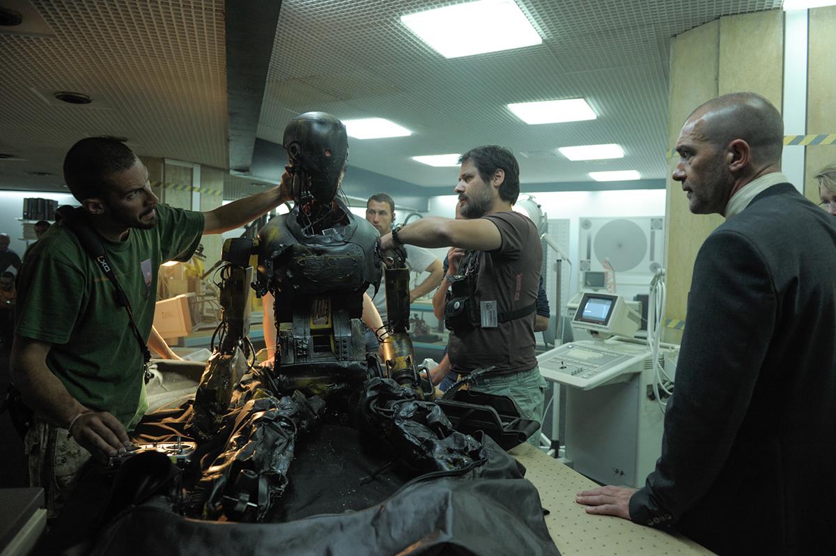 Antonio Banderas en el rodaje de Autómata