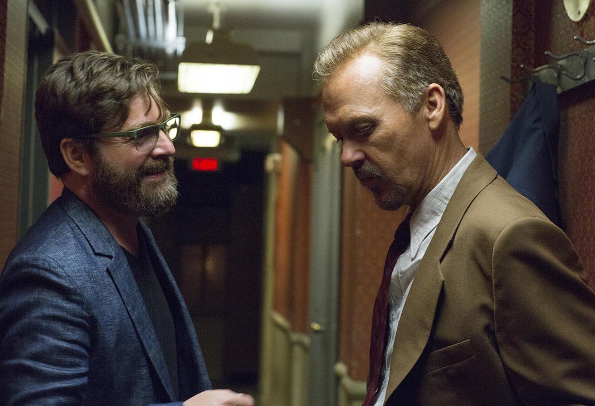 Zach Galifianakis y Michael Keaton en Birdman
