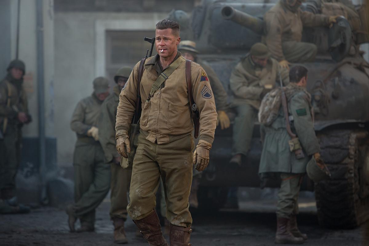 Brad Pitt en Corazones de acero