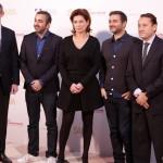 Jérome Bonnafont, Eric Toledano, Sidonie Dumas, Olivier Nakache, y Adolfo Blanco en la presentación de Samba (2)