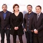 Jérome Bonnafont, Eric Toledano, Sidonie Dumas, Olivier Nakache, y Adolfo Blanco en la presentación de Samba (3)