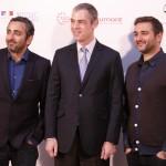 Eric Toledano, Jérome Bonnafont, y Olivier Nakache en la presentación de Samba (2)