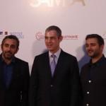 Eric Toledano, Jérome Bonnafont, y Olivier Nakache en la presentación de Samba (3)
