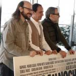 Santiago Segura, Luis Callejo, y Enrique Villén en la presentación del rodaje de Mi gran noche