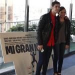 Eduardo Casanova y Lucía de la Fuente en la presentación del rodaje de Mi gran noche