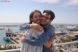 Carlos Marques-Marcet y  David Verdaguer en la presentación de 10.000 Km en el 17 festival de Málaga