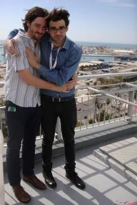 Carlos Marques-Marcet y David Verdaguer en la presentación de 10.000 Km en el 17 festival de Málaga (2)