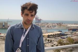 David Verdaguer en la presentación de 10.000 Km en el 17 festival de Málaga