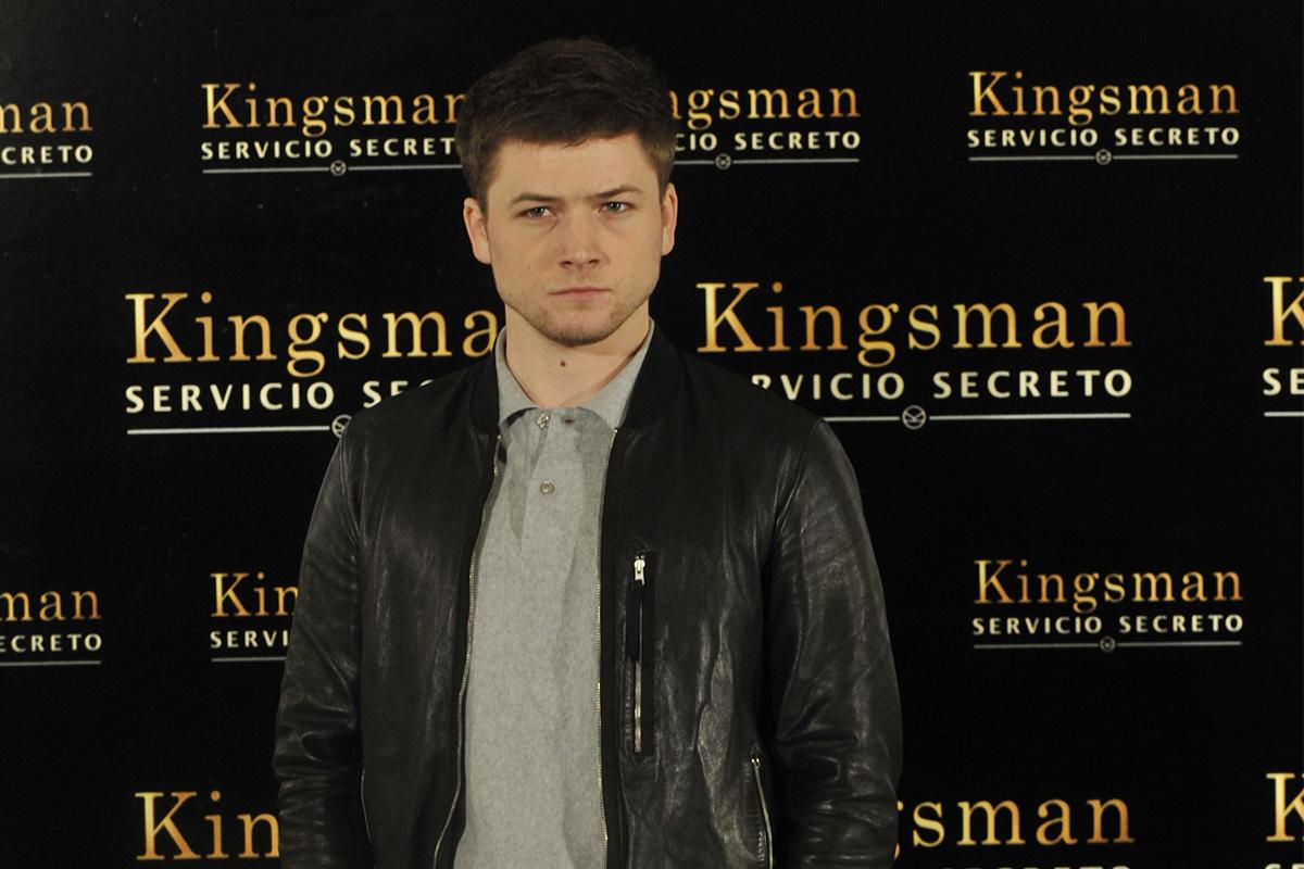 Taron Egerton en la presentación de Kingsman: Servicio secreto (©PipoFernandez)