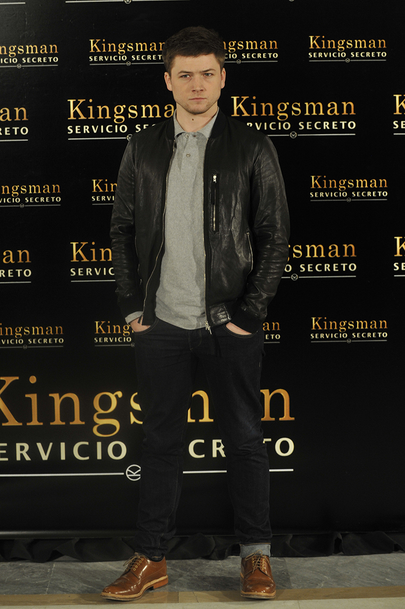 Taron Egerton en la presentación de Kingsman: Servicio secreto (2) (©PipoFernandez)
