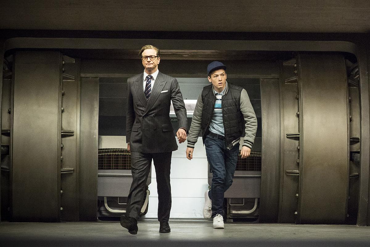 Colin Firth y Taron Egerton en Kingsman: Servicio secreto (2)