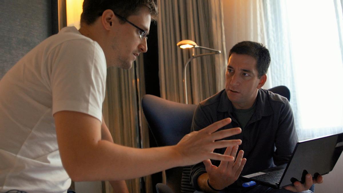 Edward Snowden y Glenn Greenwald en Citizenfour
