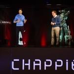 Hugh Jackman e Iván Losada en la rueda de prensa holográfica de Chappie