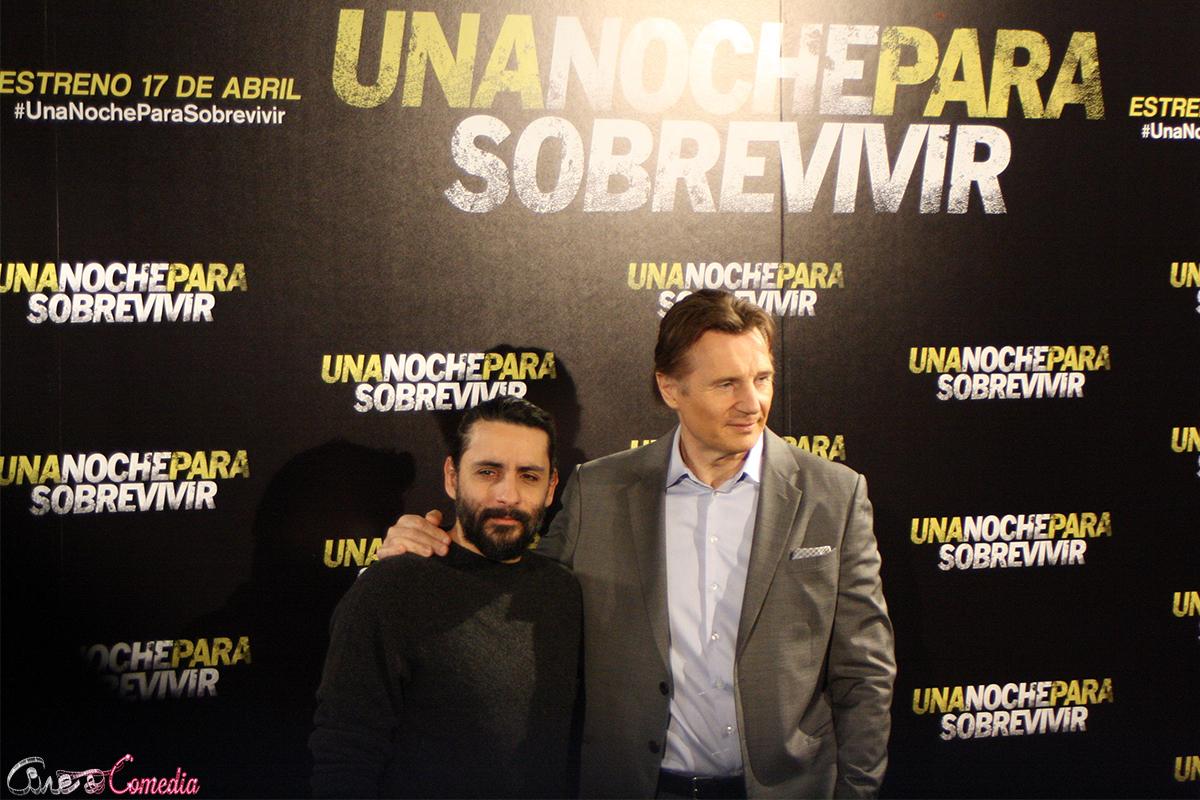 Jaume Collet-Serra y Liam Neeson en la presentación de Una noche para sobrevivir