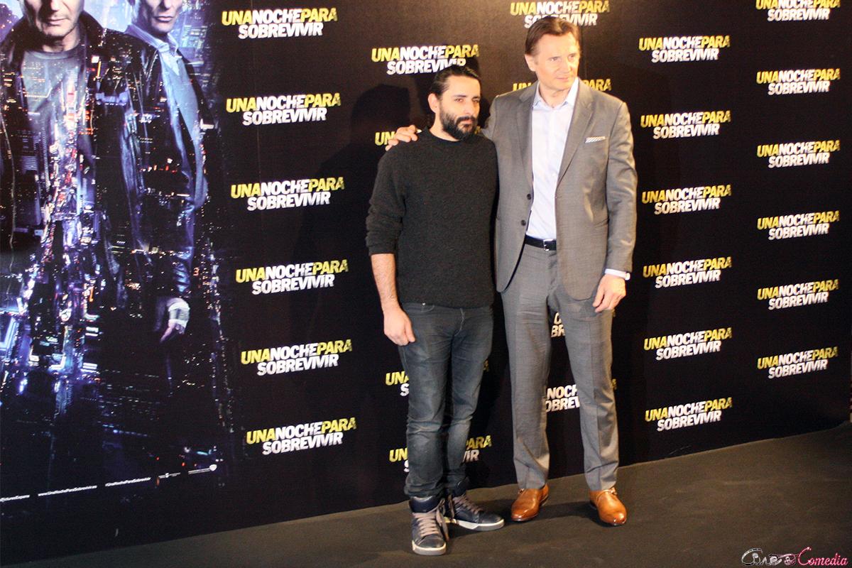 Jaume Collet-Serra y Liam Neeson en la presentación de Una noche para sobrevivir (2)