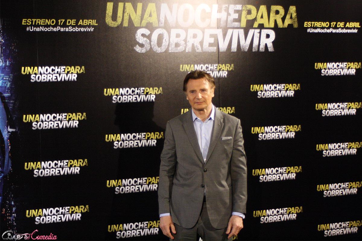 Liam Neeson en la presentación de Una noche para sobrevivir
