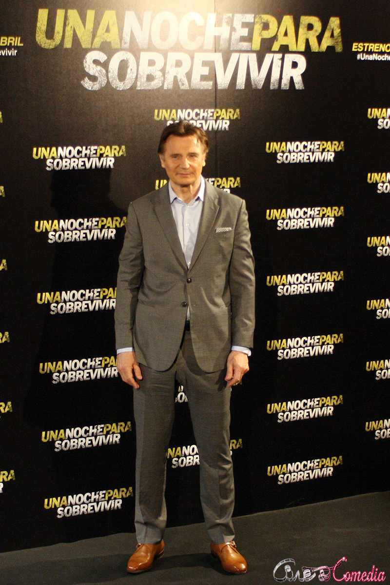 Liam Neeson en la presentación de Una noche para sobrevivir (2)