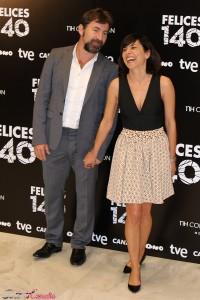 Antonio de la Torre y Marian Álvarez en la presentación de Felices 140