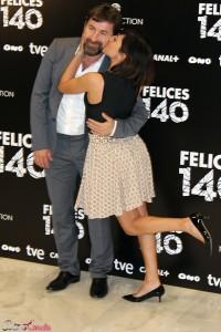 Antonio de la Torre y Marian Álvarez en la presentación de Felices 140 (2)