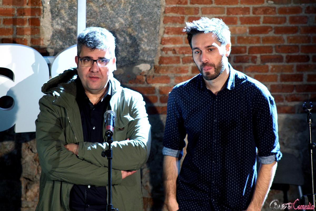 Florentino Fernández y Dani Martínez en la presentación de El gurú de las boda