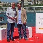 Samuel Martín Mateos y Andrés Luque en la presentación de Tiempo sin aire en el 18 Festival de Málaga ©AnaBelenFernandez