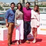 Félix Gómez, Juana Acosta, Carmelo Gómez y Adriana Ugarte en la presentación de Tiempo sin aire en el 18 Festival de Málaga ©AnaBelenFernandez
