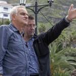 Samuel Martín Mateos y Andrés Luque en el rodaje de Tiempo sin aire