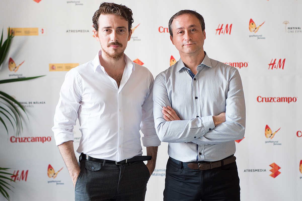 Víctor Clavijo y Javier Muñoz en la presentación de Sicarivs: La noche y el silencio en el 18 Festival de Málaga