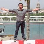 Daniel Guzmán en la presentación de A cambio de nada en el 18 Festival de Málaga