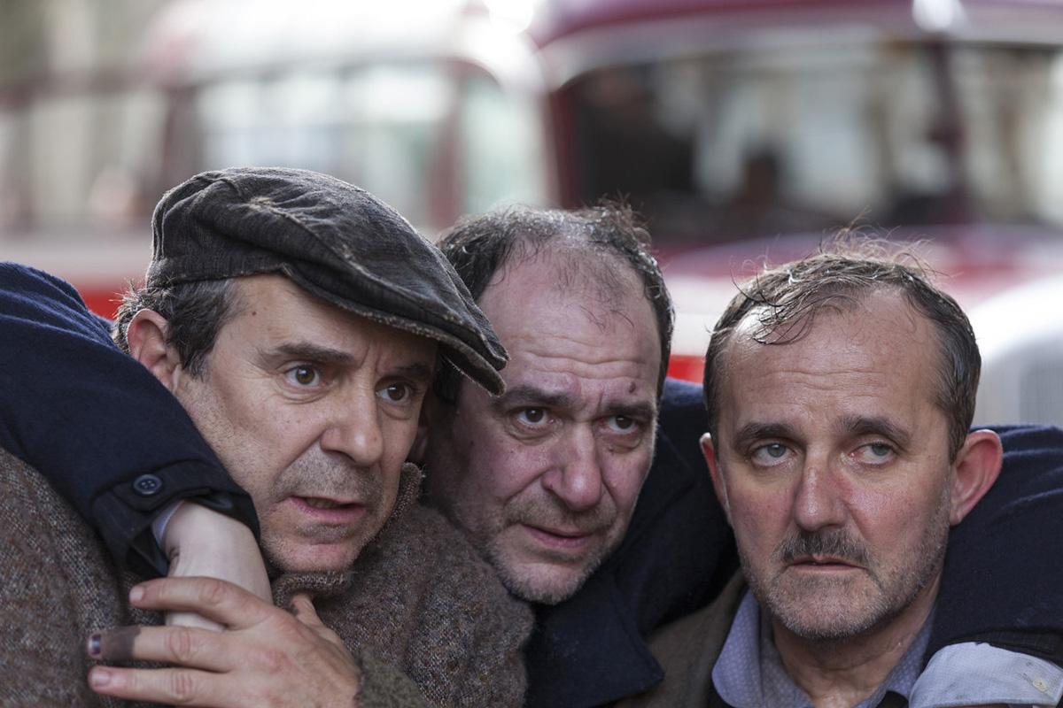 Miguel de Lira, Karra Elejalde y Antonio Durán 'Morris' en A Esmorga