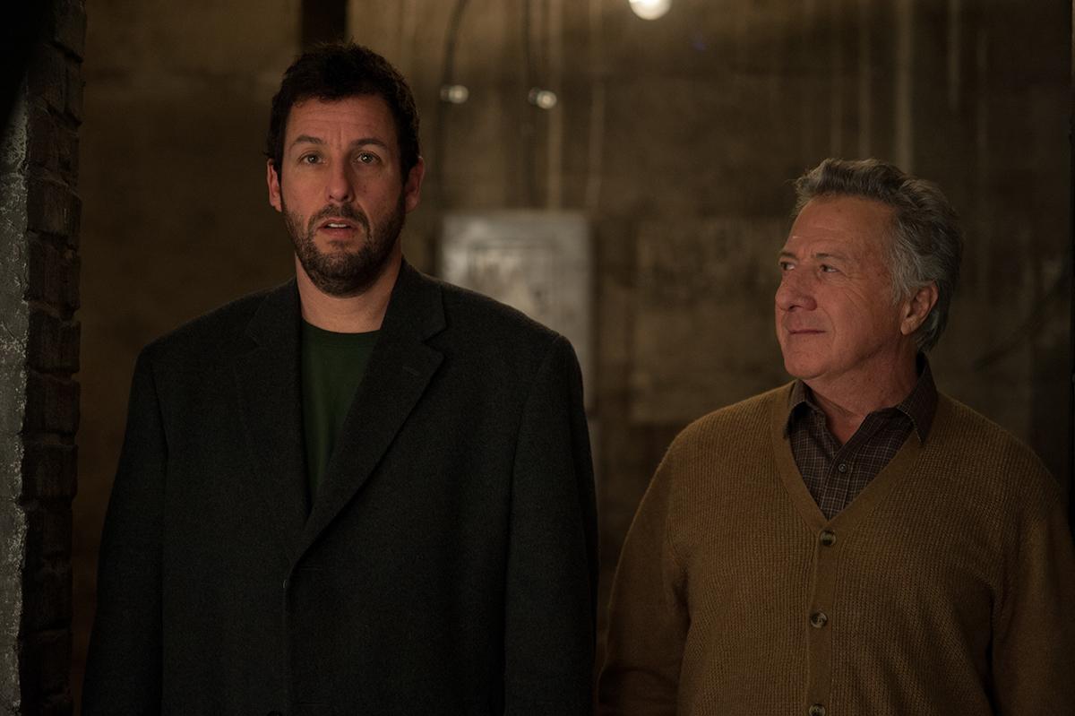 Adam Sandler y Dustin Hoffman en Con la magia en los zapatos