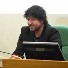 Miguel Ángel Vivas en la presentación de las primeras imágenes de Extinction en el 18 festival de Málaga