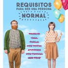 Requisitos para ser una personal normal - Poster