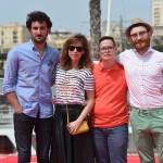 Miki Esparbé, Leticia Dolera, Jordi Llodrà y Manuel Burque en la presentación de Requisitos para ser una persona normal en el 18 festival de Málaga