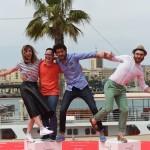 Leticia Dolera, Jordi Llodrà, Miki Esparbé y Manuel Burque en la presentación de Requisitos para ser una persona normal en el 18 festival de Málaga