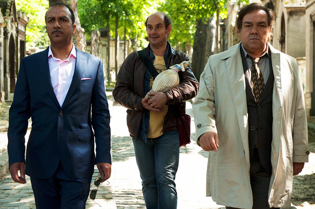Pascal Légitimus, Bernard Campan y Didier Bourdon en Tres hermanos y una herencia