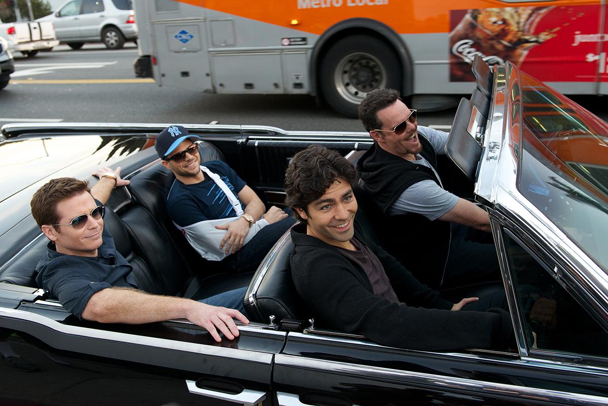 Kevin Connolly, Jerry Ferrara, Adrian Grenier y Kevin Dillon en Entourage (El séquito)